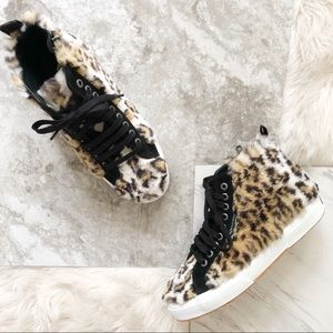 Superga | Jocelyn Leopard Fur Sneakers
